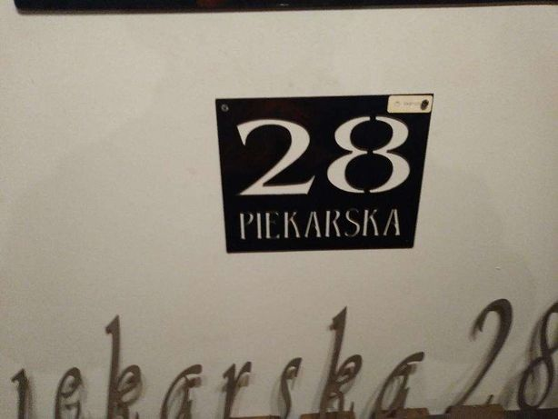 Tabliczka adresowa, numer na dom, oznaczenie posesji, czarna, 50x30 cm