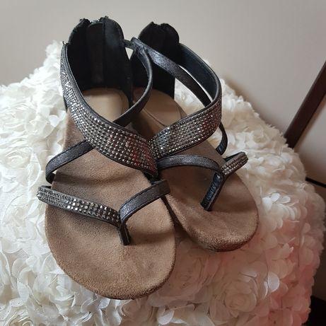 Sandałki japonki,cyrkonie next 29 wkl 19.5 cm