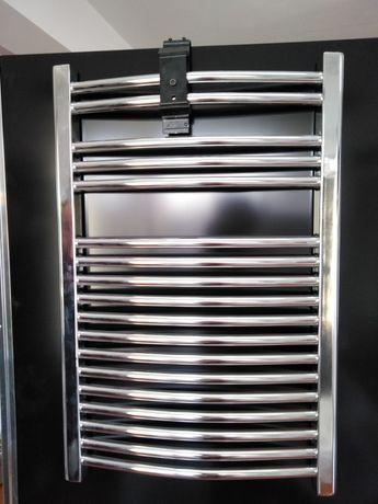 Grzejnik łazienkowy 500x750 drabinkowy, chrom. Nowy.