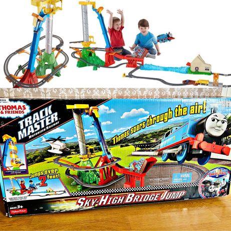 Огромная  Дорога Томас прыжок с  моста Thomas hot wheels робокар