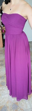 Sukienka suknia wieczorowa maxi fiolet 34/36