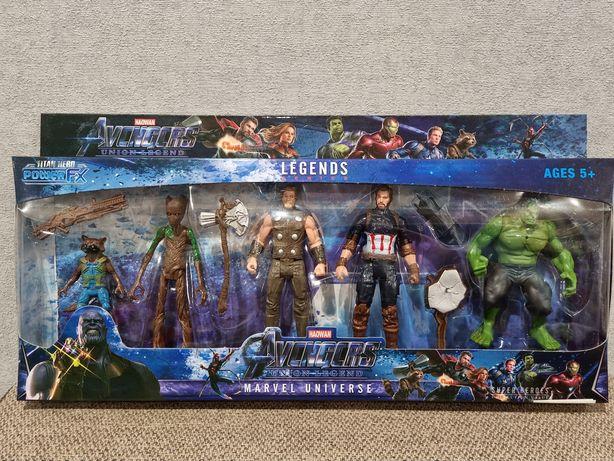 Набор Супергероев Марвел: Грут,Ракета,Тор,Халк,Капитан Америка.