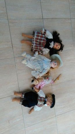 Lote de bonecas de porcelana
