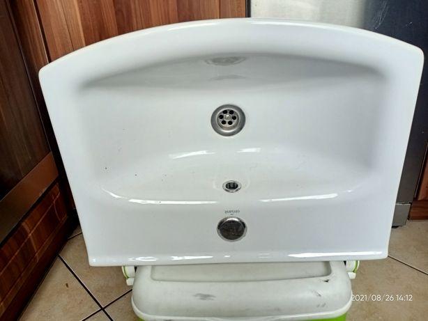 Zlewozmywak umywalka do łazienki biała 50 cm
