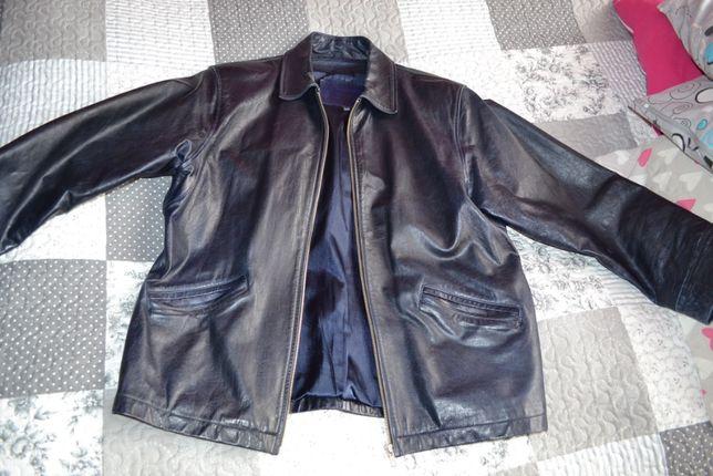 kurtka skórzana męska rozmiar M używana bardzo dobry stan
