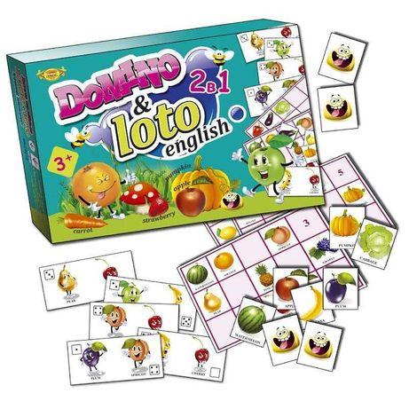лото домино настольная игра английский овощи фрукты ягоды для малышей