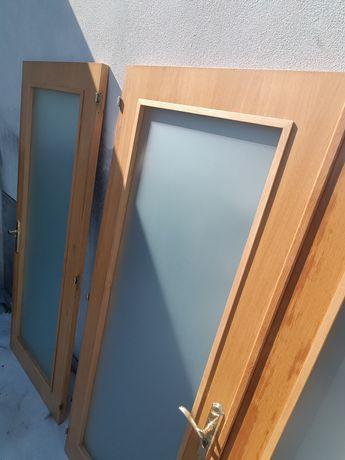 Portas interior carvalho com vidro anti mancha