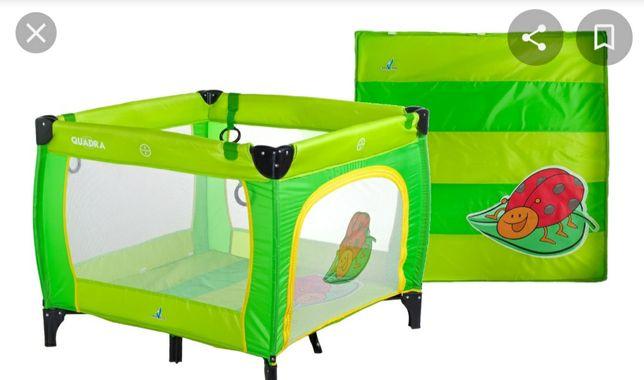 Kojec łóżeczko Caretero QUADRA - zielony