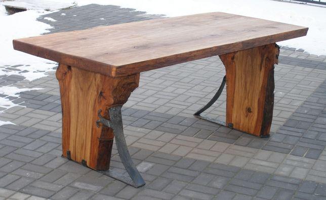 Stół dębowy 87cm x 198 cm - UNIKAT