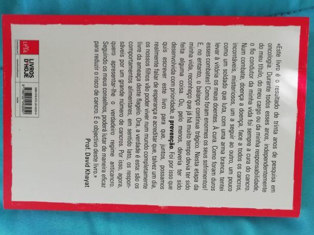 Livro O verdadeiro regime anticancro David Khayat