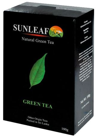 Крупнолистовой зеленый чай из Шри-Ланки от Sun Leaf, 100 грамм
