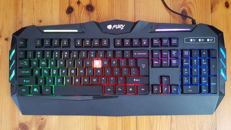 Klawiatura gamingowa Fury bez 1 klawisza