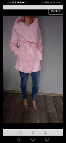 Kurtka płaszczyk różowy oversize