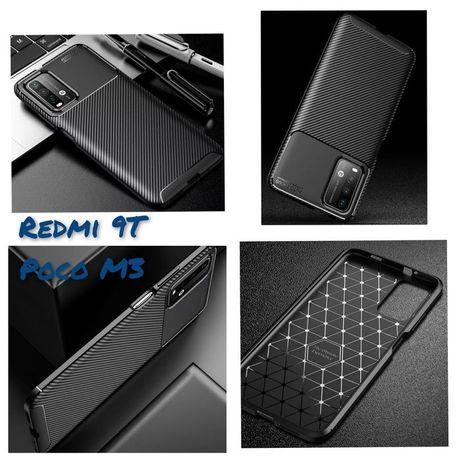 Capa T/ Fibra Carbono Xiaomi Poco X3 / X3 Pró / Poco X3 Pró / Redmi 9T