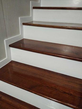 Renowacja schodów,parapetów,okien dzwi.Malowanie boazerii