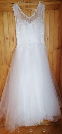 Sprzedam suknie Ślubną stan idealny.. Rozmiar S/M