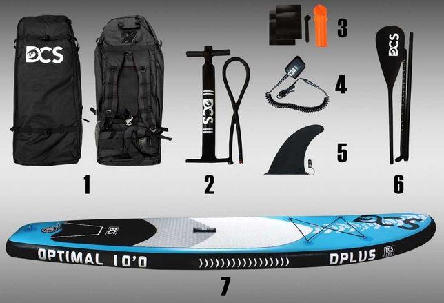 Deska SUP DCS CYBER 701 paddle board 305cm, zestaw ZAMIANA