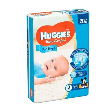 Підгузки Huggies Ultra Comfort Для Хлопчиків Розмір 3 (5-9 КГ) 80 шт