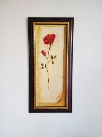 Картина маслом Троянда
