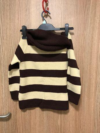 Sweter z golfikiem S / 36 z rękawkami 3/4 śliczny i bardzo kobiecy