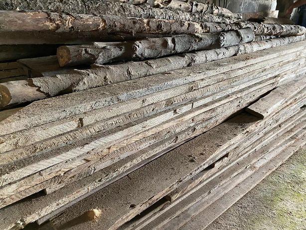 Deski szalunkowe, stemple drewniane - mix