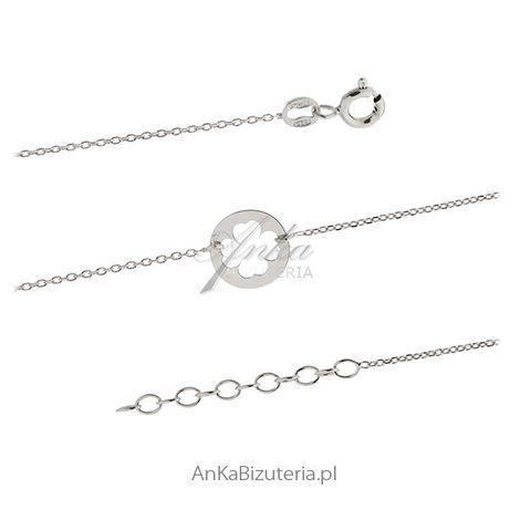 ankabizuteria.pl srebrne łańcuszki żmijka linka 75 cm Zawieszka srebrn