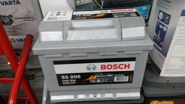 Akumulator Bosch S5006 12V 63Ah 610A D39 L+ Lanos Polonez Lacetti Krak