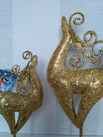 Новогодние Олени под елочку Елочные игрушки Сувенир
