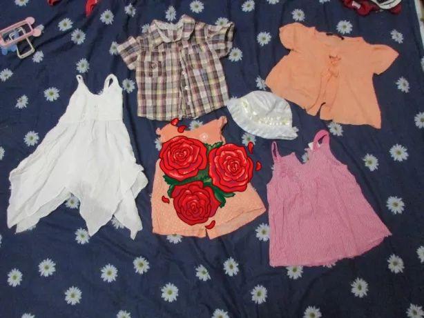 Пакет вещей на девочку лето 92-98-104, платья,футболки,майка,панамки