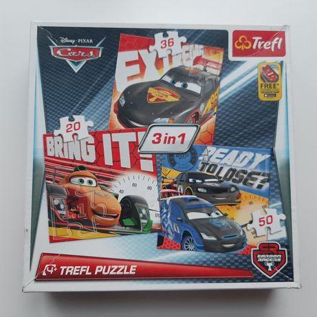TREFL 3w1 Puzzle Cars Auta 4+ chłopiec, dziewczynka