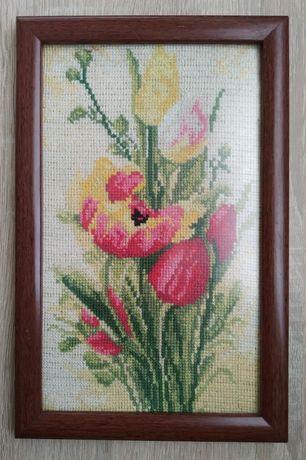 Tulipany haft krzyżykowy