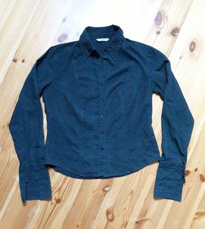 M&S koszula czarna haftowana 38