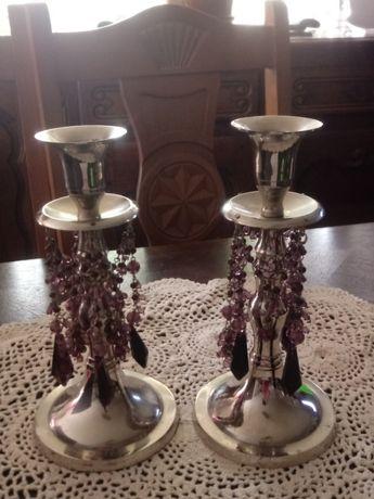 2 świeczniki ze stali (K. 133)