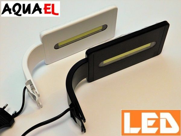 Lampka akwariowa LED LEDDY SMART PLANT 6W AQUAEL, czarna lub biała