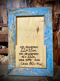 Ramka ze starego drewna Loft Rękodzieło Vintage 22x33 cm