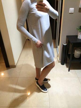 Sukienka XS S 34 36 Rabarbar Bialcon suknia szara jak by insomia