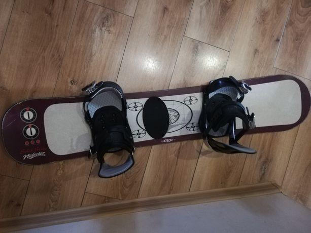Sprzedam deskę snowboardową 115 cm. Idealna do nauki