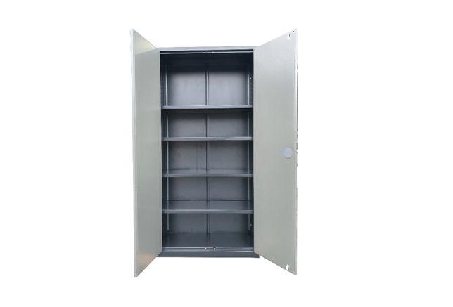 Szafa z pólkami metalowa warsztatowa 195x95x41 cm z kluczem półkowa