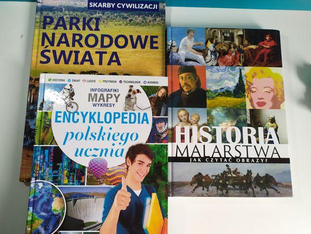 Książki: Historia malarstwa, Encyklopedia, Parki Narodowe, Taniec
