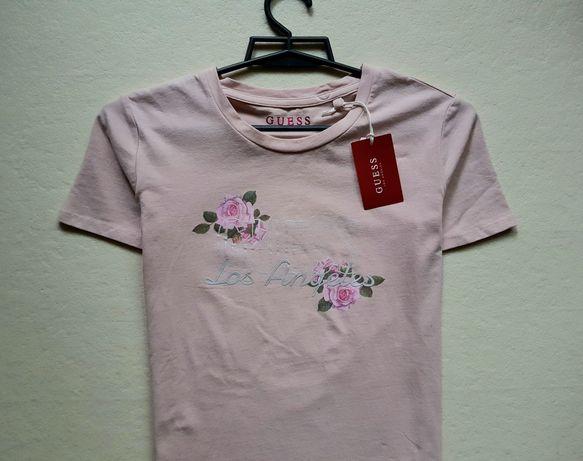 Koszulka bluzka damska Guess Flower Tee XS 34 z kompletem metek