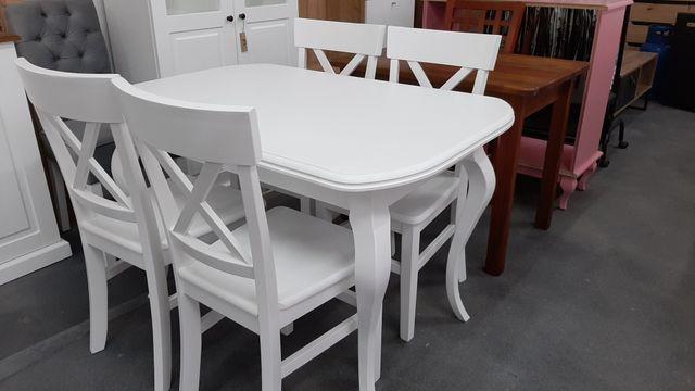 Zestaw 4 krzeseł sosnowych + stół rozkadany od ręki!!!