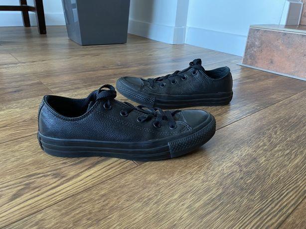 Converse all star skórzane buty trampki czarne black 36,5 23 cm