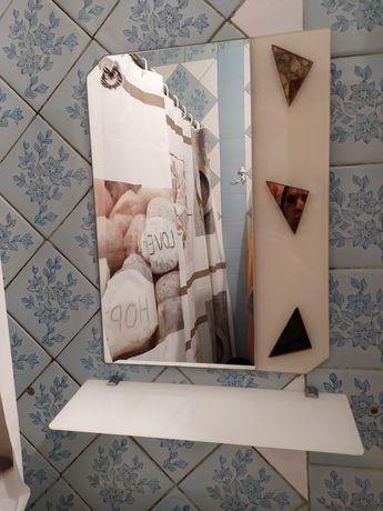 Зеркало + полка для ванной комнаты.