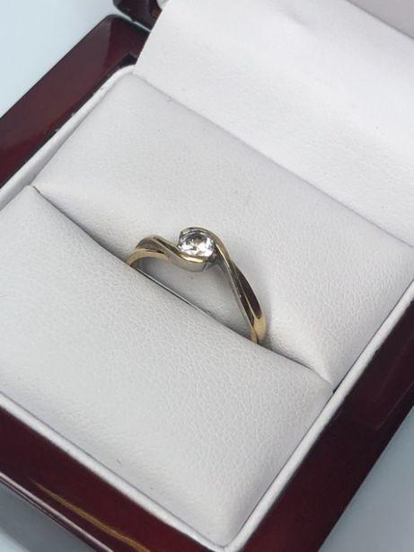 pierścionek złoty 1,64g 585 14k