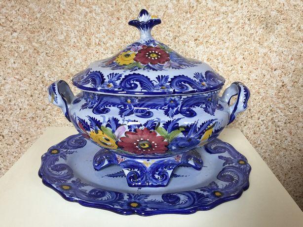 Włoska Sygnowana Waza Porcelana Bassano Italy