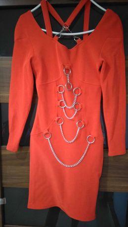 Czerwona sukienka XS
