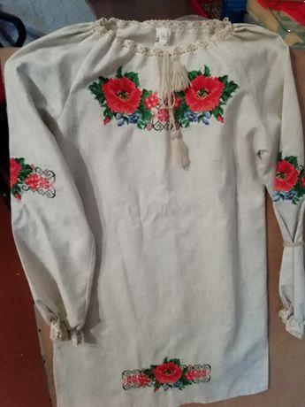 Платье с вышивкой, вышиванка