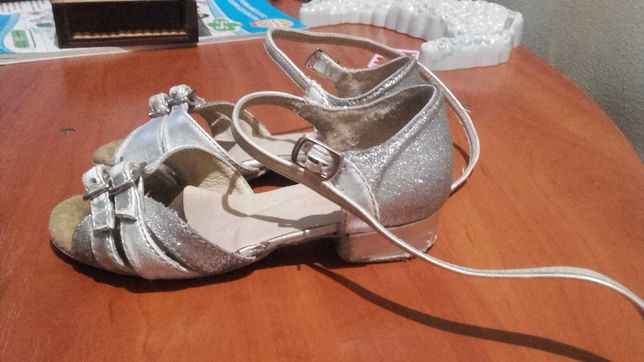 Туфлі бальні блок каблук для танців