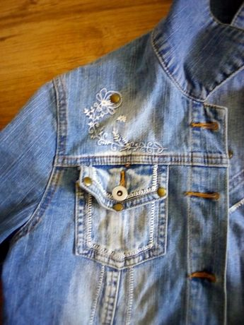 Kurtka jeans damska L