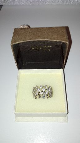 Srebrny pierścionek rodowany Yes Verona Apart r. 16